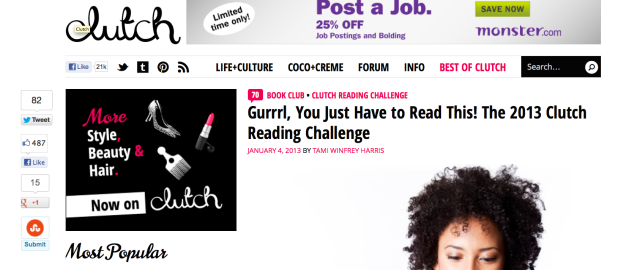 Clutch Mag's Reading Challenge