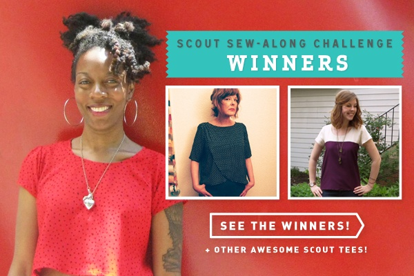 Scout Sew-Along Challenge Winners!