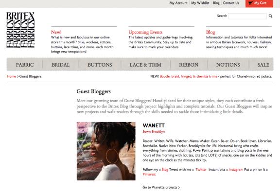 Britex Guest Blogger