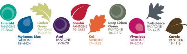 Pantone Fall 2013 Color Palette
