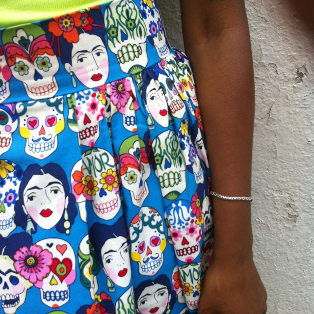 Sown Brooklyn : Frida Skirt : Alexander Henry Folklorico