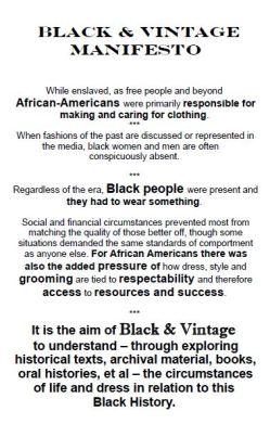 Black & Vintage Manifesto